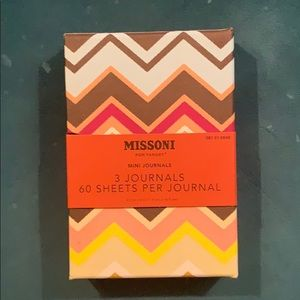 NWT Missoni for Target Set/3 Mini Journals w/case